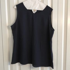 Talbot size 14 100% silk tank top navy blue